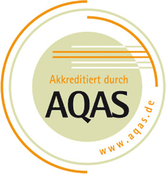 "Siegel ""Akkreditiert durch AQAS"""